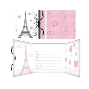 3/$15 ☘️ 2pk bundle- Pink Paris invitations